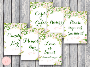 green-garden-bridal-shower-table-signs-package