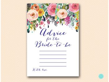BS438-advice-for-bride-to-be-card-floral-garden-bridal-shower-game