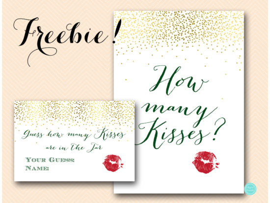 bs472g-how-many-kisses-sign-green-forest-bridal-shower-hens-game-free