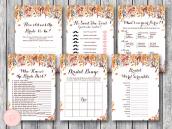 autumn-fall-bridal-shower-games-package