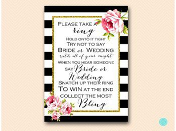 bs10b dont say bride or wedding black stripes