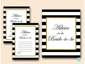 BS61-advice-for-bride-card-sign-black-stripes-gold-bridal-shower-cards 35
