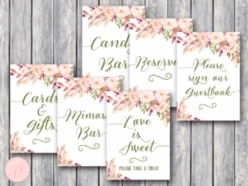 boho-floral-bridal-shower-table-signs-package