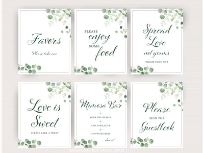 eucalyptus-greenery-wedding-table-signs-baby-shower-sign-decor-1