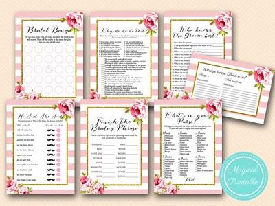 floral-pink-chic-bridal-shower-games