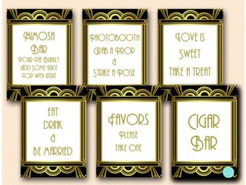 gatsby-roaring-twenties-bridal-shower-table-signs