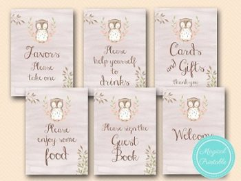 pink-owl-baby-shower-signs