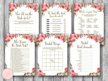 Red Flower Wedding Decor Signs