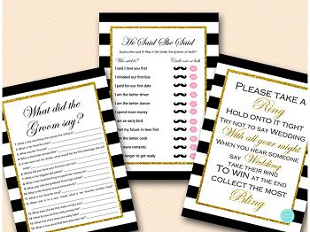 black and gold bridal shower game printable bs442 2