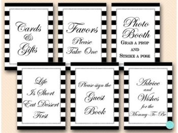 black-and-silver-baby-shower-table-signs-silver-glitter-baby-shower-signs-mimosa-favors-cards-400