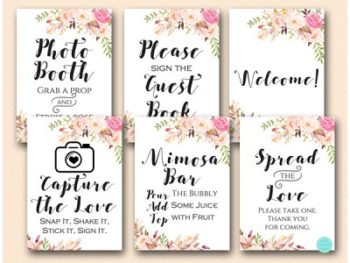 boho-floral-bridal-shower-wedding-decoration-signage