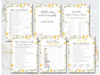 daisy-themed-bridal-shower-games