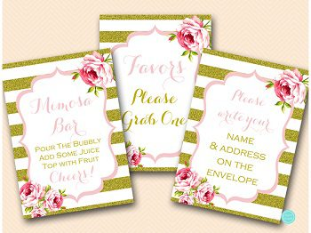 gold-pink-bridal-shower-decoraion-sign-mimosa-bar-favors