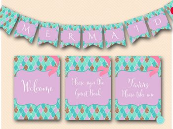 mermaid-baby-shower-signs-mermaid-banner-labels-4