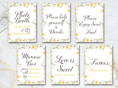 spring-daisy-flowers-party-signs