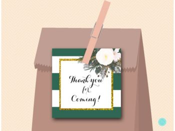 sn460-square-tags-forest-green-gold-bridal-shower-decoration-favors-thanks-1