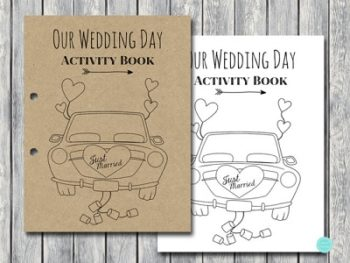 DOWNLOAD Wedding Kids Activity Book and Coloring