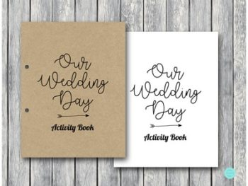 DOWNLOAD Kraft Wedding Kids Activity Book and Coloring