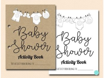 baby shower Kids Activity Book and Coloring
