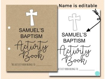 Baptism Kids Activity Book and Coloring