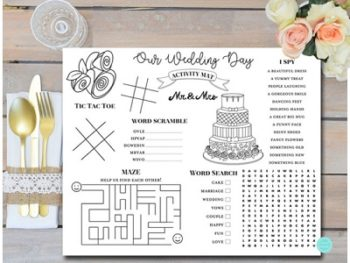 DOWNLOAD Wedding Kids Activity and Coloring Mat