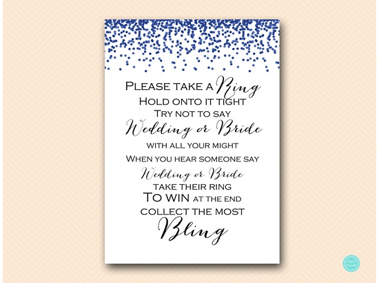 bs408 dont say wedding or bride navy blue