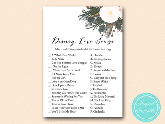 BS437-disney-love-song-match-vintage-white-flower-bridal-shower-game