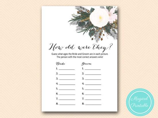 White Flower Bridal Shower Games