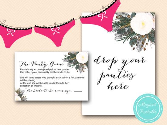 bs437 panty game drop sign vintage white flower