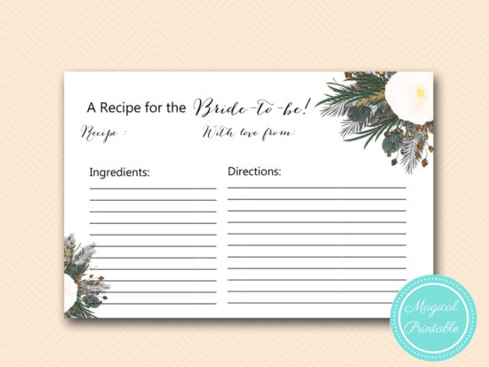 BS437-recipe-card-vintage-white-flower-bridal-shower-game-gothic