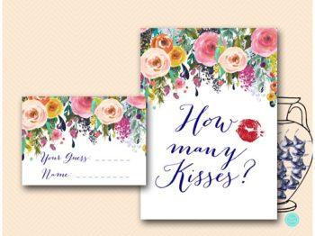 BS438-how-many-kisses-floral-garden-bridal-shower-game