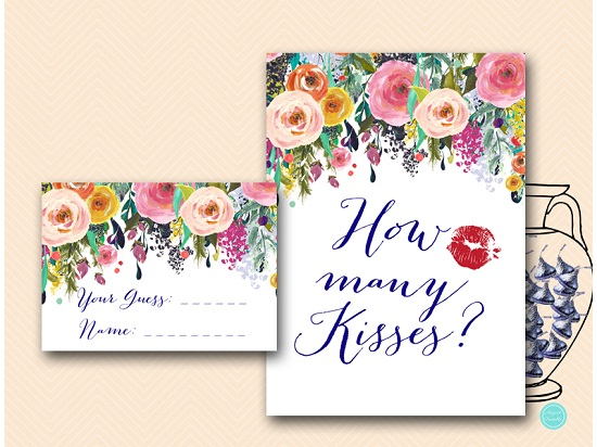 BS438-how-many-kisses-floral-garden-bridal-shower-game