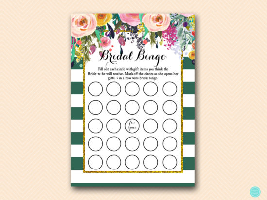 BS440-bingo-bridal-gifts-item-forest-green-bridal-shower-games