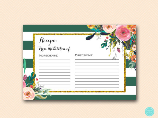 BS440-recipe-card-forest-green-bridal-shower-games