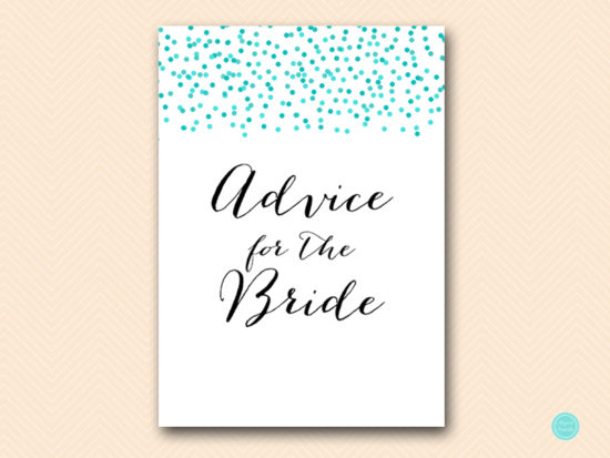 BS441-advice-for-bride-sign-tiffany-aqua-confetti-bridal-shower