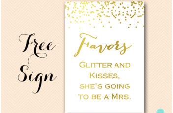 BS87-favors-kisses-glitter-sign-gold-foil-bridal-shower-sign