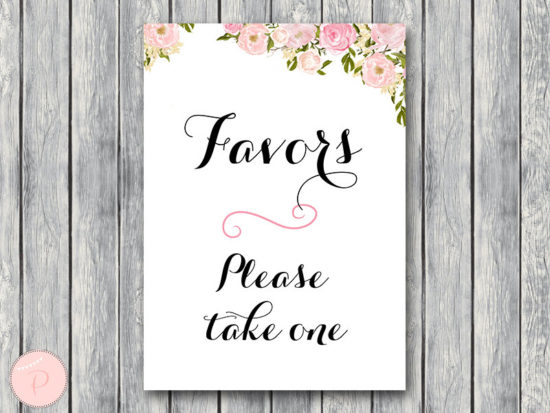 Favors Sign, Wedding Favor sign, Shower Favors sign