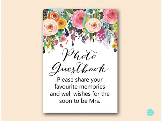 SN34-photo-guestbook-5x7-AUST-floral-bridal-shower-decoration-sign