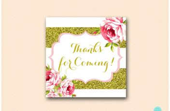 SN432-Thank-You-Tags gold and pink floral bridal shower favors baby shower 550
