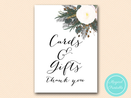 SN437-sign-cards-and-gifts-vintage-white-flower-bridal-shower-sign-wedding