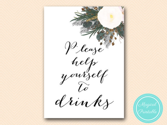 SN437-sign-drinks-help-yourself-vintage-white-flower-bridal-shower-sign-wedding
