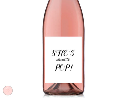 TG08 3-75x4-75 wine labels she is about to pop