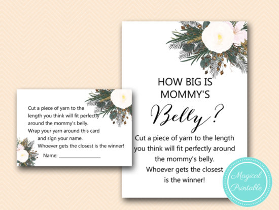 TLC437-how-big-is-mommys-belly-vintage-white-flower-baby-shower