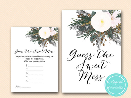 TLC437-sweet-mess-card-vintage-white-flower-baby-shower-game
