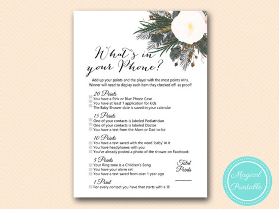 TLC437-whats-in-your-phone-vintage-white-flower-baby-shower-game