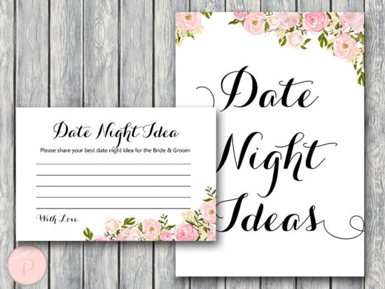 WD67-Pink Date Night Ideas, Date Night Cards