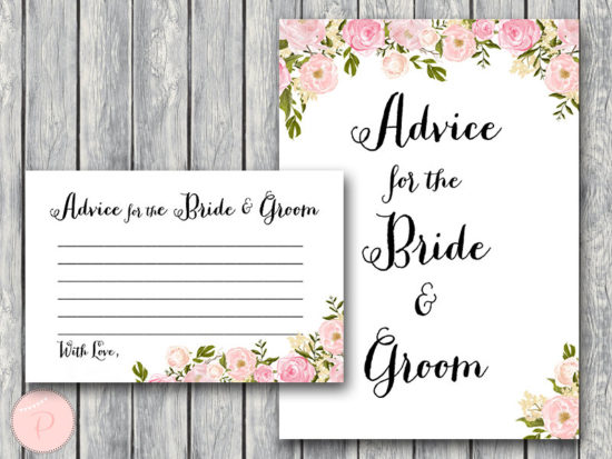WD67-peonies-Advice for the Bride and Groom Card & Sign