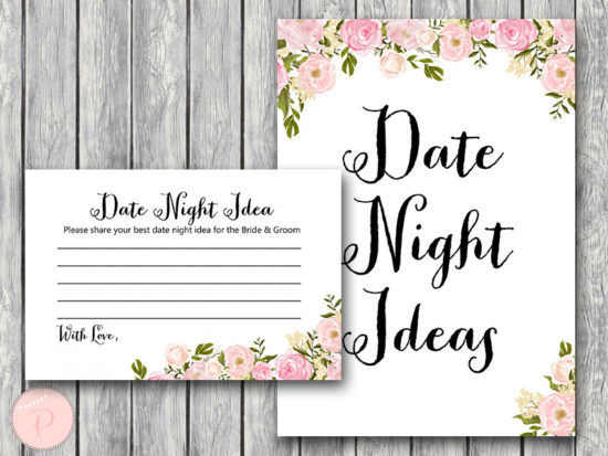WD67-peonies-Date Night Ideas, Date Night Cards, Date Night Sign