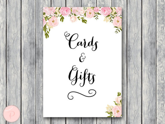 WD67-peonies-sign-Pink Cards Gift Sign, Instant Download, Decration