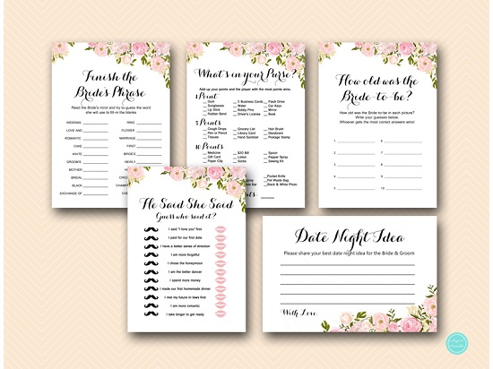 photograph about Bridal Games Printable named Crimson Flower Bridal Shower Game titles Printable
